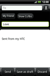 HTC A510e Wildfire S - E-mail - Sending emails - Step 7