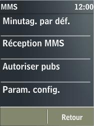 Nokia X3-02 - MMS - Configuration automatique - Étape 10