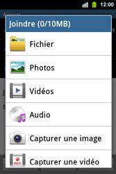 Samsung S5830i Galaxy Ace i - E-mail - envoyer un e-mail - Étape 10