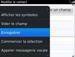 BlackBerry 9720 - Contact, Appels, SMS/MMS - Ajouter un contact - Étape 13