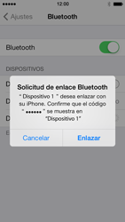 Apple iPhone 5s - Bluetooth - Conectar dispositivos a través de Bluetooth - Paso 6