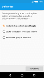 Sony Xperia M4 Aqua - Segurança - Como ativar o código de bloqueio do ecrã -  11