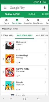 Samsung Galaxy S8 - Android Oreo - Aplicações - Como pesquisar e instalar aplicações -  6