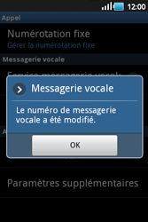 Samsung S5660 Galaxy Gio - Messagerie vocale - configuration manuelle - Étape 8