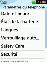 LG T580 - Sécuriser votre mobile - Personnaliser le code PIN de votre carte SIM - Étape 5