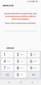 Samsung Galaxy S9 - Segurança - Como ativar o código de bloqueio do ecrã -  9