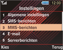Samsung B3210 Corby TXT - MMS - handmatig instellen - Stap 5