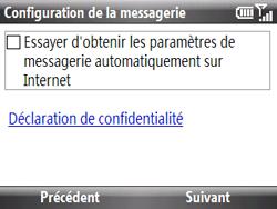 HTC S521 Snap - E-mail - Configuration manuelle - Étape 6