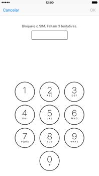 Apple iPhone 6s Plus - Segurança - Como ativar o código PIN do cartão de telemóvel -  6