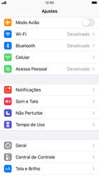 Apple iPhone 8 - iOS 13 - Rede móvel - Como ativar e desativar o modo avião no seu aparelho - Etapa 3