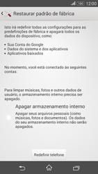 Sony Xperia E4G - Funções básicas - Como restaurar as configurações originais do seu aparelho - Etapa 8