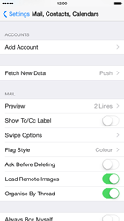 Apple iPhone 6 iOS 8 - Email - Manual configuration - Step 4