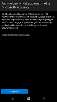 Microsoft Lumia 950 XL - Applicaties - Account aanmaken - Stap 17