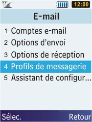 Samsung C3350 Xcover 2 - E-mail - Configuration manuelle - Étape 6