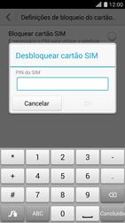 Huawei G620s - Segurança - Como ativar o código PIN do cartão de telemóvel -  6