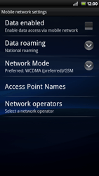 Sony Ericsson Xperia Neo - Internet - Enable or disable - Step 6