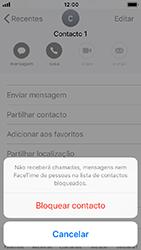 Apple iPhone SE - iOS 12 - Chamadas - Como bloquear chamadas de um número -  6
