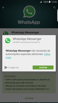 Samsung Galaxy S6 Edge + - Aplicações - Como configurar o WhatsApp -  7