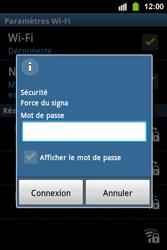 Samsung S5830i Galaxy Ace i - Wifi - configuration manuelle - Étape 7