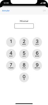 Apple iPhone XS - iOS 13 - Sécurité - modifier SIM PIN - Étape 6