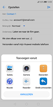 Huawei Mate 10 Pro - E-mail - hoe te versturen - Stap 10