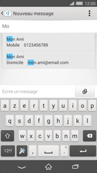 Sony Xperia Z2 - Contact, Appels, SMS/MMS - Envoyer un SMS - Étape 6