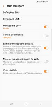 Samsung Galaxy S8 Plus - SMS - Como configurar o centro de mensagens -  7