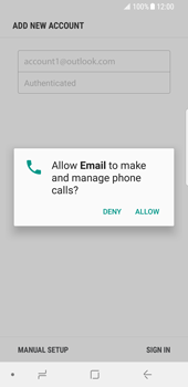 Samsung Galaxy S8 - Android Oreo - E-mail - Manual configuration (outlook) - Step 10