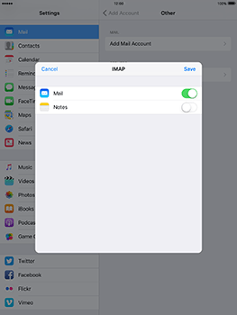Apple iPad 4 iOS 10 - Email - Manual configuration - Step 16