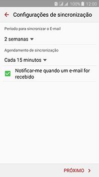 Samsung Galaxy J7 - Email - Como configurar seu celular para receber e enviar e-mails - Etapa 7