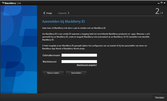 BlackBerry Leap - Software - Download en installeer PC synchronisatie software - Stap 11