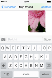 Apple iPhone 4S iOS 7 - MMS - hoe te versturen - Stap 13