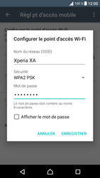Sony Sony Xperia XA - Internet et connexion - Partager votre connexion en Wi-Fi - Étape 10