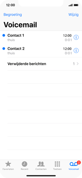 Apple iPhone X - Voicemail - Visual Voicemail - Stap 17