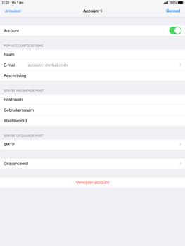 Apple ipad-mini-2-ios-12 - E-mail - Account instellen (POP3 met SMTP-verificatie) - Stap 21