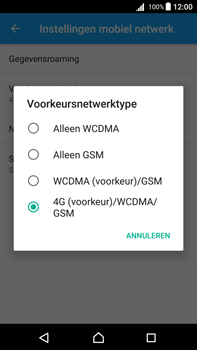 Sony Xperia Z5 Premium (E6853) - Android Nougat - Netwerk - Wijzig netwerkmodus - Stap 7
