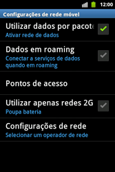 Samsung Galaxy Ace - Mensagens - Como configurar seu celular para mensagens multimídia (MMS) - Etapa 7