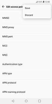 LG V30 - MMS - Manual configuration - Step 15