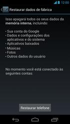 Motorola Moto X - Funções básicas - Como restaurar as configurações originais do seu aparelho - Etapa 8