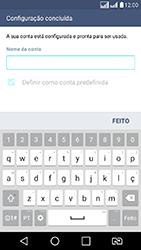 LG K8 - Email - Como configurar seu celular para receber e enviar e-mails - Etapa 10