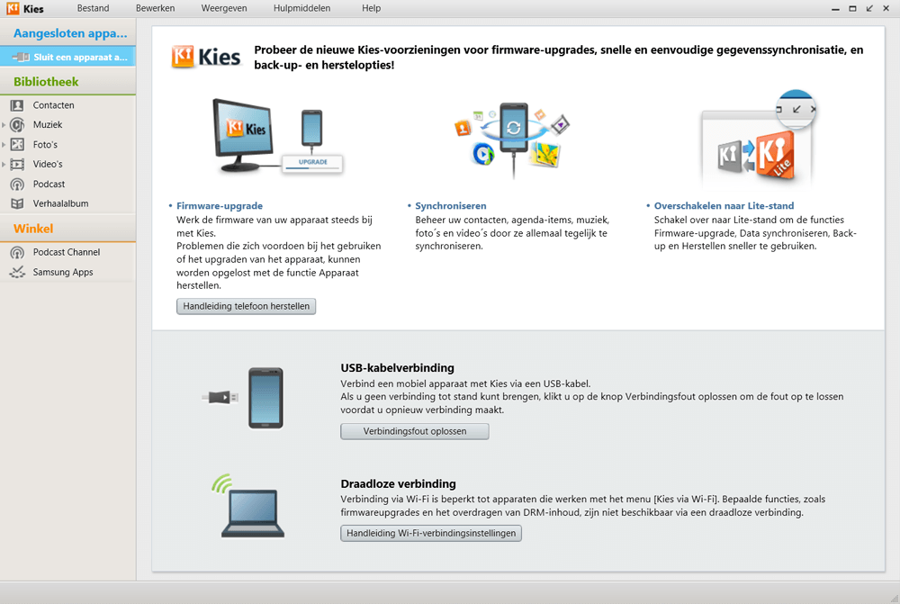 Samsung I9505 Galaxy S IV LTE - Software - Download en installeer PC synchronisatie software - Stap 6