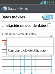 LG Optimus L3 II - Internet - Ver uso de datos - Paso 6