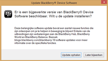 BlackBerry Q10 - Software - Installeer firmware update - Stap 6