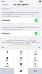 Apple iPhone 6s iOS 10 - Applications - Créer un compte - Étape 16