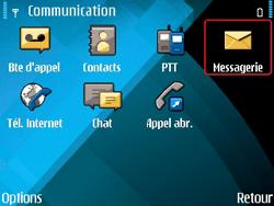 Nokia E71 - MMS - envoi d'images - Étape 3