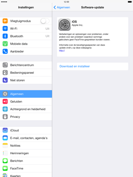 Apple iPad Air (Retina) met iOS 7 - Software updaten - Update installeren - Stap 6
