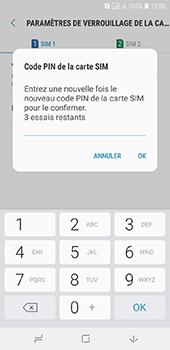 Samsung Galaxy A6 - Sécurité - modifier SIM PIN - Étape 11