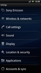 Sony Ericsson Xperia Ray - Network - Usage across the border - Step 4