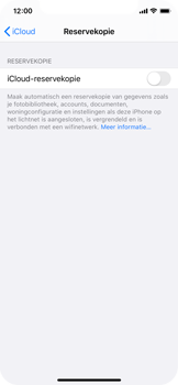 Apple iPhone X - iOS 13 - Data - maak een back-up met je account - Stap 10