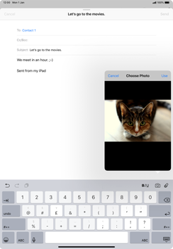 Apple iPad Pro 11 (2018) - Email - Sending an email message - Step 11
